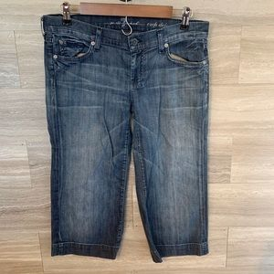7 FOR ALL MANKIND  Dojo Flare Cropped Size 30